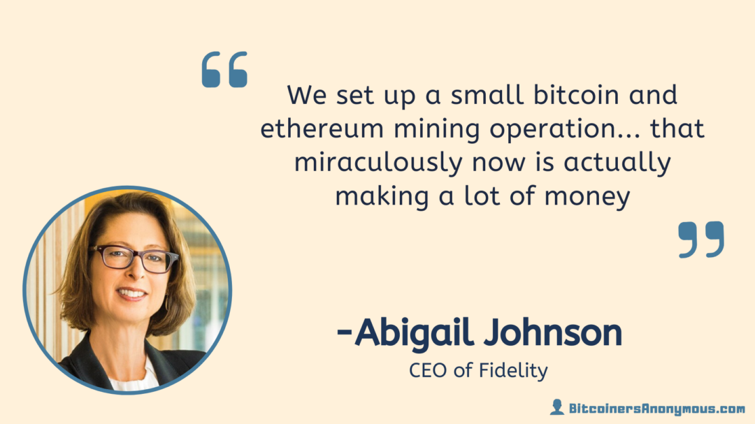 Abigail Johnson, CEO of Fidelity