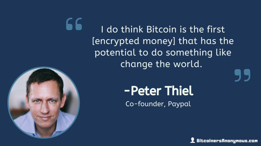 Peter Thiel, Co-founder of PayPal