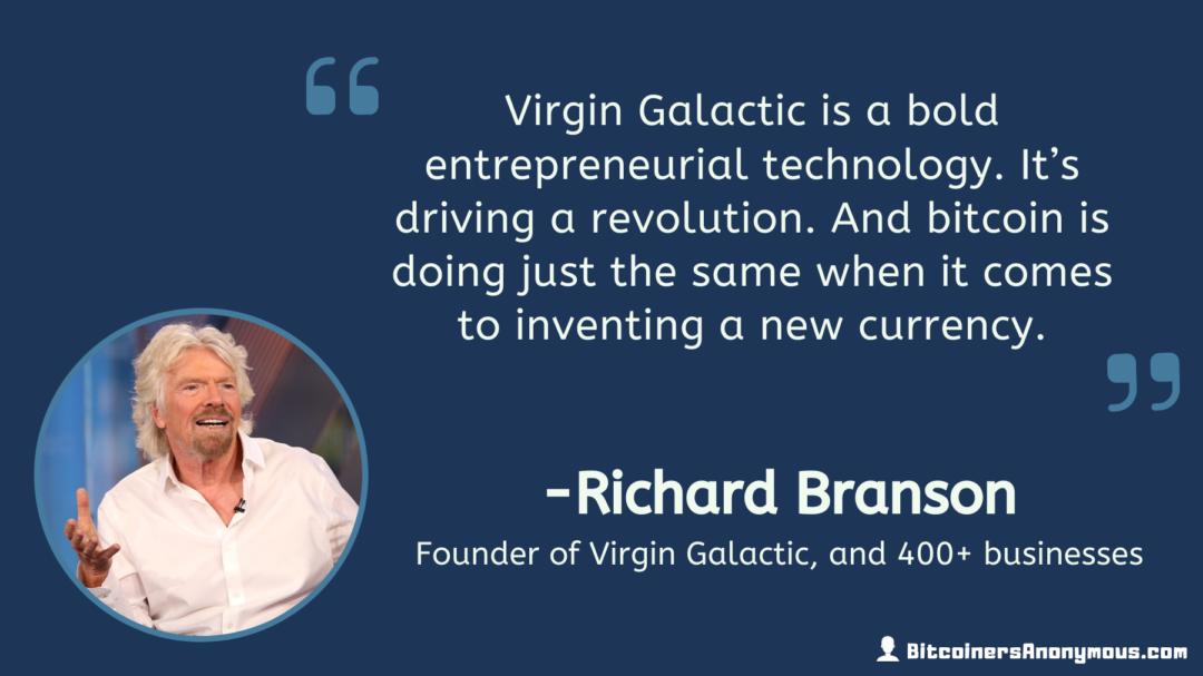 Richard Branson, Founder of Virgin Galactic
