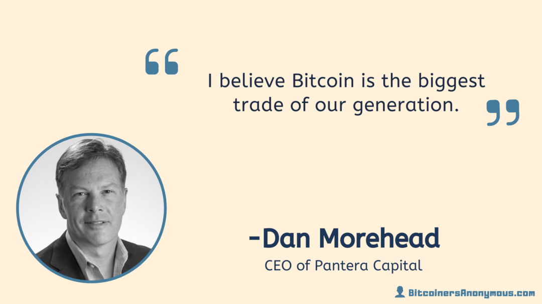 Dan Morehead, CEO of Pantera Capital