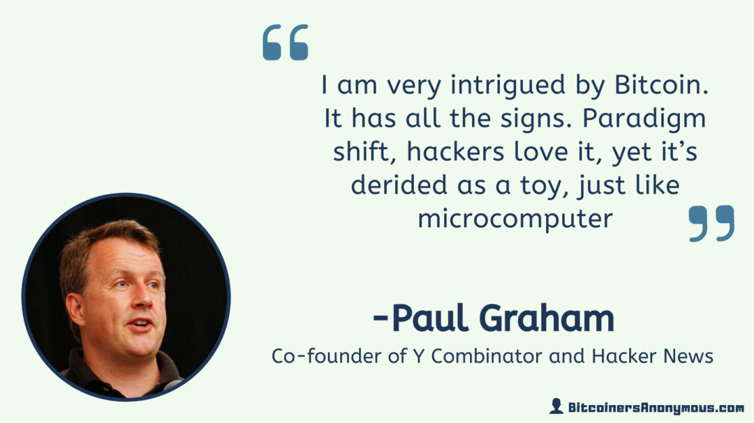 Paul Graham, Co-founder Y-Combinator and Hacker News
