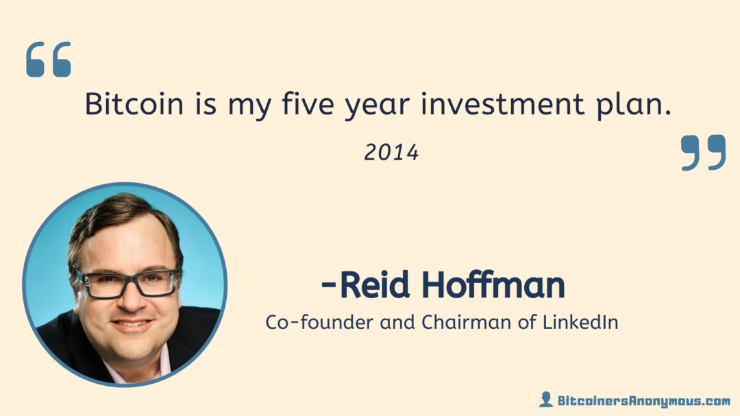 Reid Hoffman, Co-founder and Chairman of Linkedin